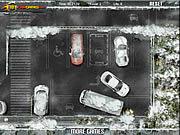 Parcheggio di ghiaccio invernale