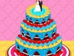 Delicioso pastel de bodas