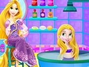 Baby Rapunzel Bath Time
