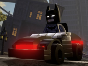 Tasti dell'automobile di Batman Lego