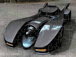 Jigsaw di Batmobile