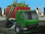 Caminhão de lixo de carga