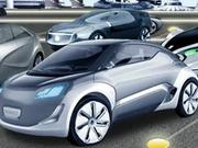 Concept Car Parkplatz