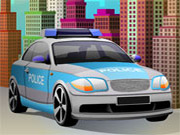 Estacionamento de carros de polícia