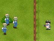 Kuh gegen Zombie