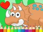 Dino mignon à colorier