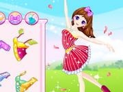 Tanssiva kevät tyttö