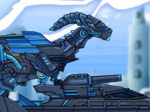 Dino Robot Combine Ninja Parasau