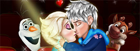 Elsa E Jack Kissing Game