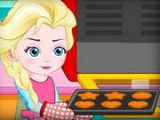 Elsa faz bolinhos