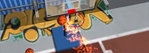Flick Basket Shooting Game