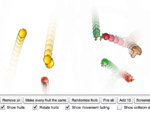 Física del círculo de la fruta