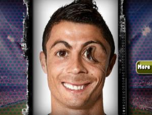 Śmieszne twarz Ronaldo