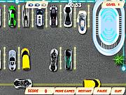Estacionamiento de automóviles futurista