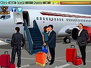 Kyssar på flygplatsen