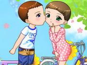 Liebes-Kuss-Paar