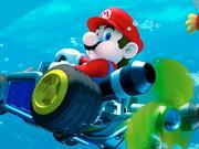 Mario conduciendo bajo el agua