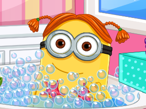 Día del Spa Minion Girl