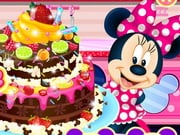 Pastel de chocolate Minnie Mouse