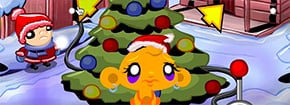 Monkey Go Xmas Tree Feliz Game