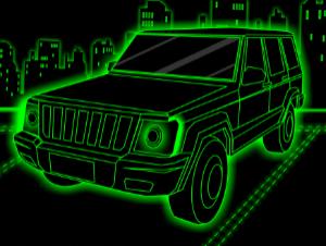 Stationnement de camion à néon