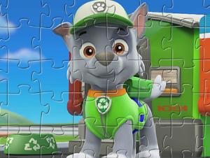 La pata Patrulla Rocky Puzzle