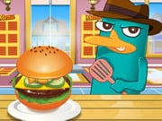 Perry Cooking Hamburger americano