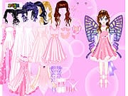 Papillon rose Habille