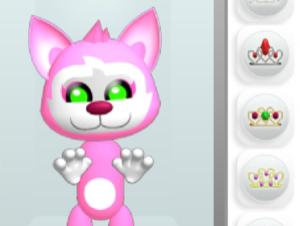 Vestido de gatito rosa