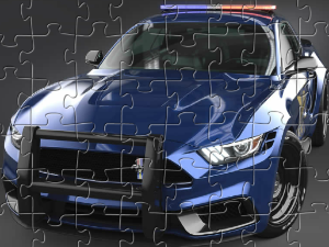 Polizei Mustang Puzzle