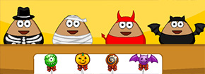 Pou de Halloween Slacking Game