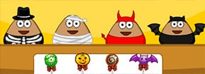 Pou Halloween Slacking Game