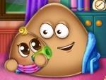 Pou tiene un bebé
