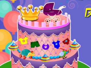 Prinzessin Baby Shower Cake
