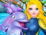 Princesa Elsa espectáculo de delfines