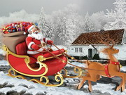 Entrega de navidad santa