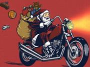 Acción de Santa Motocross