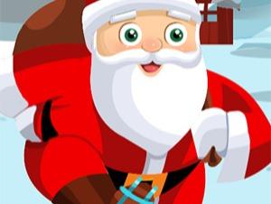 Santa trên giày trượt