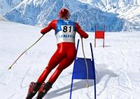 Simulador de esqui slalom