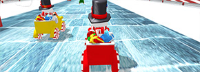 Snowman Christmas Racing Game