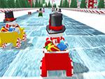 Muñeco de nieve Racing de Navidad