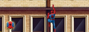 Spiderman mur chenilles