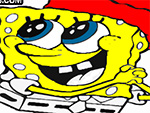 Spongebob Squarepants Natale da colorare