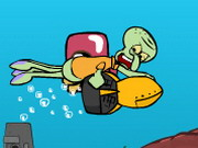Squidward Diving