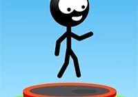 Stickman Trampolin