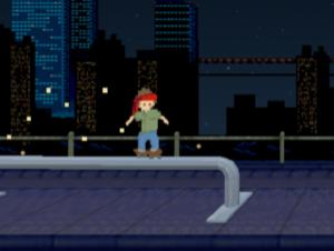 Straße Skater