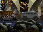 Camión de carga de pantano