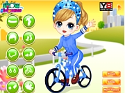 La bicicleta de Little Girl Learn