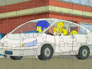 La Simpsons Tesla Car