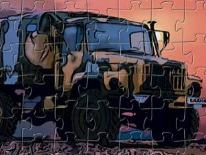 Puzzle di camion di guerra